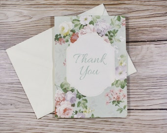 Thank You Card - Whimsical Rose Suite