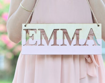 Personalized baby name wall sign,  nursery wall decor, nursery wall sign, children room decor custom colors