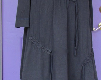 Vintage Cora Kemperman  layered dress charcoal  Size XL lagenlook