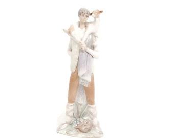 Vintage Lladro Figurine SHEPHERD BOY with GOAT 4506 Retired Made in Spain Porcelain Sculpture