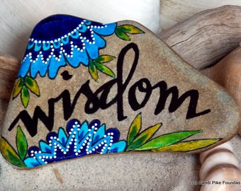 Inner wisdom / painted rocks / painted stones / mini art / hand painted rocks / coffee table art / beach stones / intuition /  boho decor
