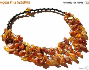 15% OFF THRU OCT Baltic Amber Necklace. Raw Unpolished Beads.