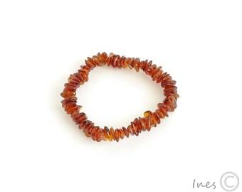 Baltic Amber Cognac Baby Teething Bracelet or Anklet