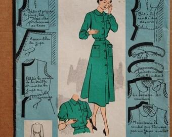 Vintage French Sewing Pattern 1940s Patron Modèle Boys ...