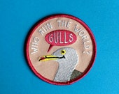 Funny Iron On Patch, Gulls Patch, Cute Seagull Patch, Embroidered Pink Patch, Bird Patch, Feminist Patch, Seagull Badge, Cute Girls Patch