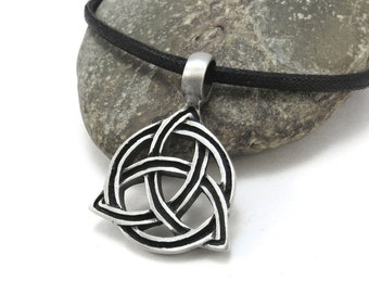 Celtic Knot Necklace, Pendant with Celtic Knotwork - Irish Jewelry