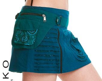 PIXIE skirt, ASSORTED COLOURS - psytrance skirt, elf skirt, ethnic skirt, goa Skirt, wrap Skirt, Pixie Mini Skirt, Coskcd