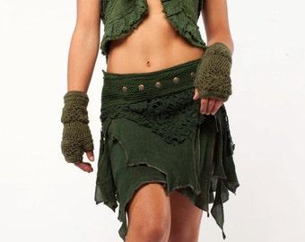STEAMPUNK skirt, ASSORTED COLOURS - psytrance skirt, elf skirt, pixie skirt, goa Skirt, wrap Skirt, Pixie Mini Skirt, MFSKet