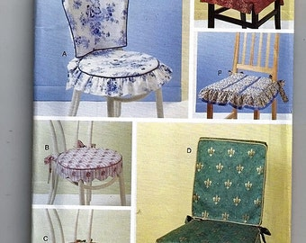 Chair Pads / Original Butterick Home Decorating Uncut Sewing Pattern 5606