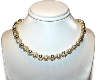 Vintage Sterling Stardust Bead Necklace 18 19 20 inches