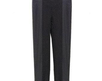 OONU Pokla-Dot Pedal Pushers Pants