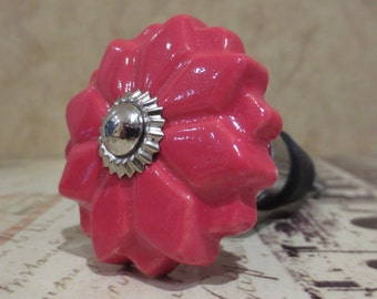 Red Poinsettia Flower Wine Stopper