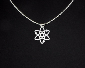 Atom Necklace - Science Necklace - Atom Jewelry - Atom Gift - Science Gift - Science Jewelry