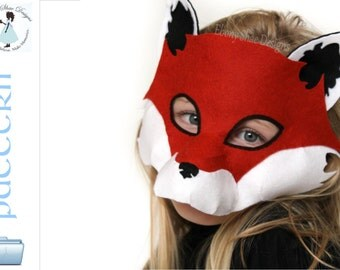 Fox Mask.  Digital Fox Costume Sewing Pattern.
