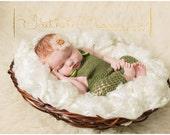 Green Crochet Newborn Overalls and Headband Newborn Girl Photography Prop Newborn Photo Prop Knit 0-3 months