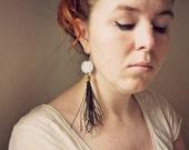 Boho chic feather single earring - Nine
