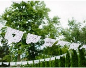 1 Personalized Papel Picado Wedding Banner - Mexican Hand Cut Designs