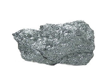 Hematite Shiny Sparkly Specular Hematite Charcoal Gray Metallic Ore from Michigan Mineral Specimen for a rockhound earth mineral collection