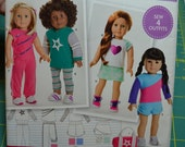 American Girl Simplicity Sewing Pattern S0171 New ~ Sew 4 Outfits
