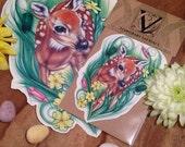 Deer Temporary Tattoo - Doe Eye Love - Doe Tattoo - Temporary Tattoo - Wildlife Tattoo - Spring Tattoo - Easter Tattoo
