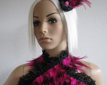 SPECIAL OFFER: Set, Feather Shrug & Fascinator Pink Burlesque