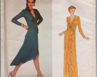 "1970's Vogue American Designer Wrap Style Dress - UC/FF - Scott Barrie - Bust 32.5"" - No. 2218"