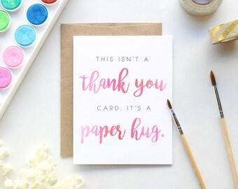 Thank You Paper Hug Greeting Card