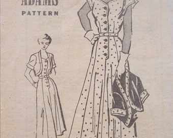 Vintage Dress Sewing Pattern 1940s ANNE ADAMS T4911  Size 34 Uncut Unused Fall Season Sale 16 % OFF Coupon Code FALL16