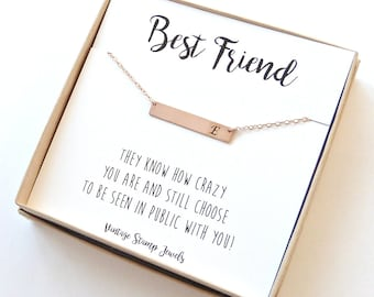 Initial Necklace,Best Friend Gift,Gift for Her, Personalized Bridesmaid Gift, Personalized Necklace, Hand stamped, Monogram Necklace