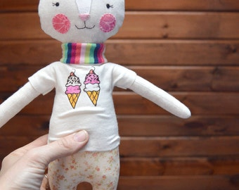 kitty rag doll: Cleo, cat, modern rag doll, rosey rag doll
