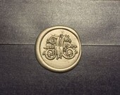 M Initials Wax seal stamp /Heypenman crossover with BlackmarketIntl/