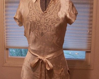 1930's silk brocade blouse