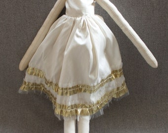 Juliet Ragdoll: Handmade from Vintage and Recycled Materials,Cloth Doll, ballet doll, tutu
