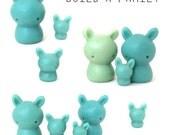Mint Tea Bunnies: Fine Art gift for Tea Lovers