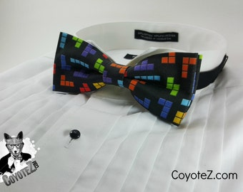 Video Game Bowtie, Gamer Bowtie, Nerdy, Geek Fashion, Bow Tie, Gifts for Him, Adjustable Bowtie, Novelty Bowtie, Tile Puzzle, Geekery