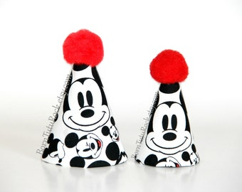 Mickey Party Hat // Mickey Birthday Hat // Mini Party Hat // Ready to Ship // by Born TuTu Rock