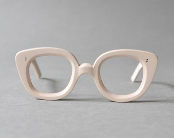 Pink eyeglasses, blush glasses, 60s eyewear, nerd frames pink 60s, nerd eyeglasses