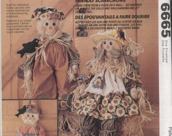 McCall's Crafts Pattern 6665--Uncut--Friendly Scarecrows