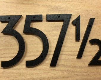 8 inch Art Deco House Numbers Letters