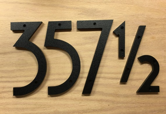8 inch art deco house numbers letters. Black Bedroom Furniture Sets. Home Design Ideas