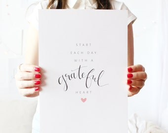 Artprint // grateful heart