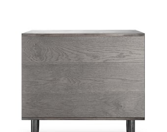 Sideboard Esjufjoll. Midcentury Modern. Copper Furniture. Scandinavian Design. White gallery edition. Luxury Furniture.