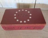 Handmade Small Box - Rookwood Red, Eye Glasses Case, Checkbook Case