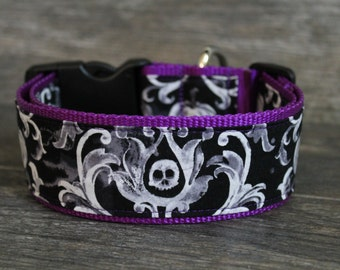 Halloween Dog Collar - 2 Inch Wide Large Breed Collar - Add a Name