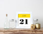 Anniversary Date Custom Sign Printable Wall Art Personalized Save the Date Sign Birth date Poster
