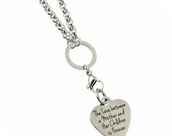 Mother and Child Family  Long Charm Necklace Spiritual Stainless Steel Jewelry Gift for Her Expressions Bracelets