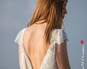 Wedding Dress, Bohemian Wedding Gown, Boho Bridal Dress, Long Wedding Dress, Ivory Lace Dress, Lace Wedding Dress, Laura Handmade Gown