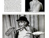 """1952 Lucille Ball I Love Lucy Article Photography Classic American Sitcom Slapstick Typography Art Life Magazine """"Beauty Into Buffoon"""" Print"""