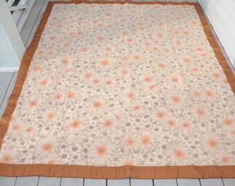 Virgin Wool Blanket Floral MADE IN BRAZIL