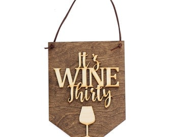 Gifts for Wine Lover - Wine Bar - Bar Sign - Gifts for Her - Winery - Wood Sign - Wine Gift - Wall Hanging - Handmade - Kitchen Decor